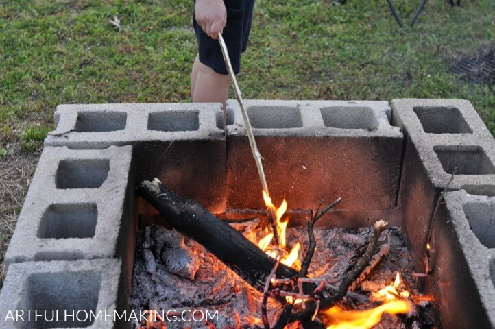 make your own fire pit instructions