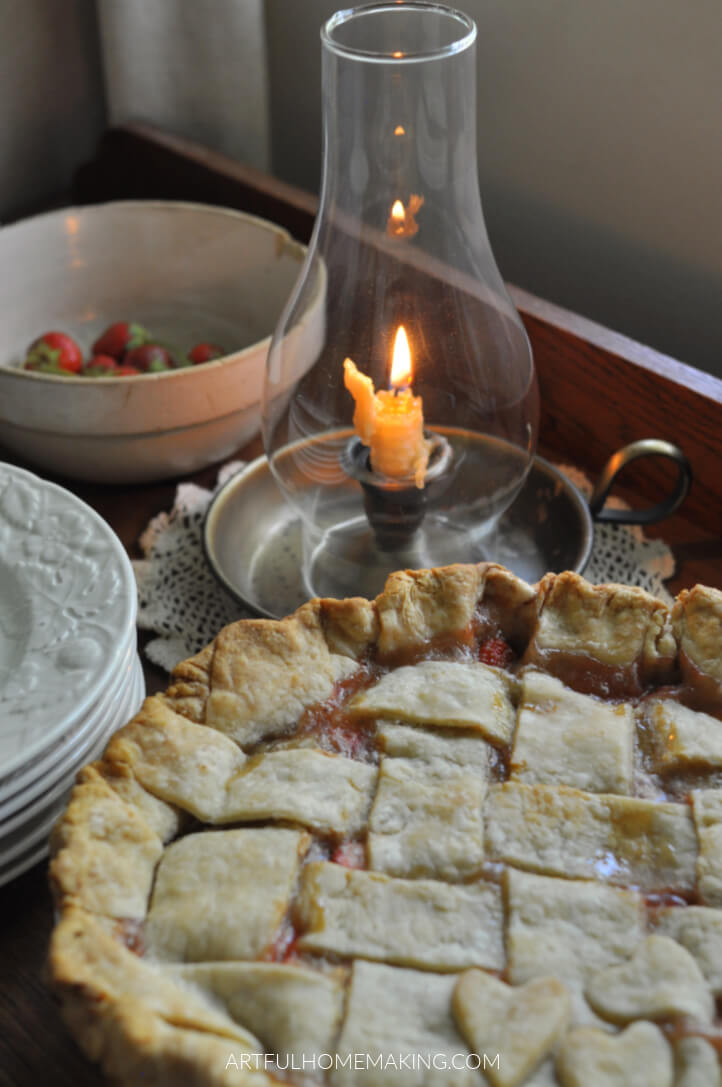 stawberry pie sweetened with honey
