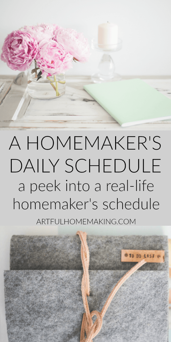 A Homemaker's Daily Schedule