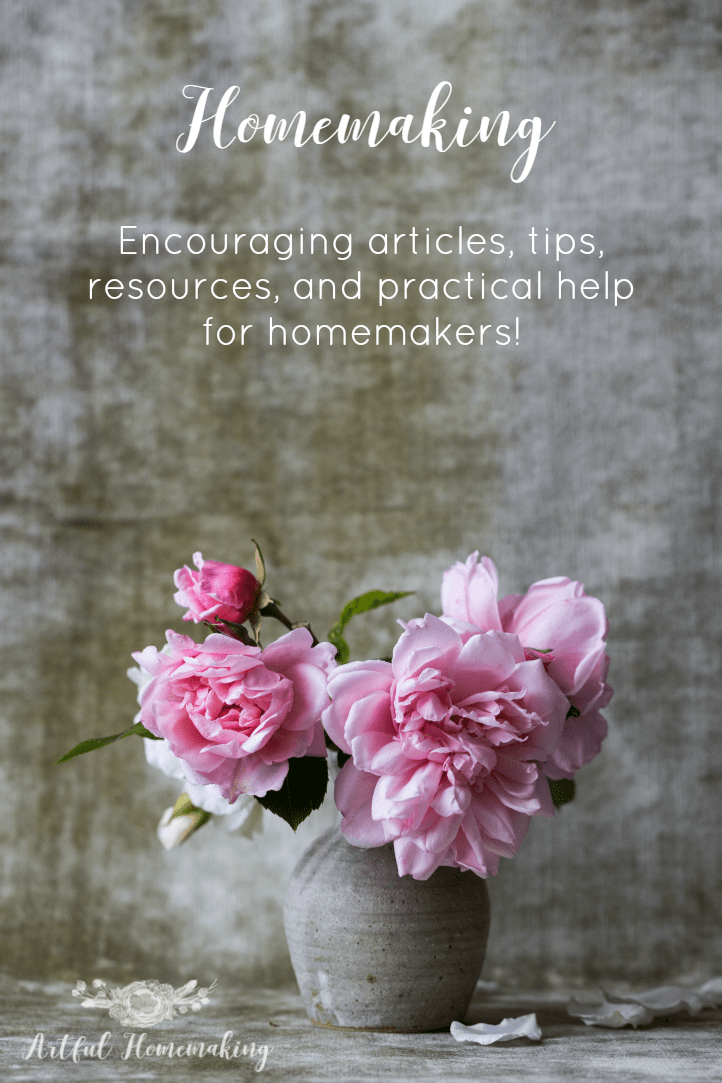 The best place to find homemaking tips help, and resources!