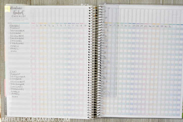 using an erin condren planner for homeschool