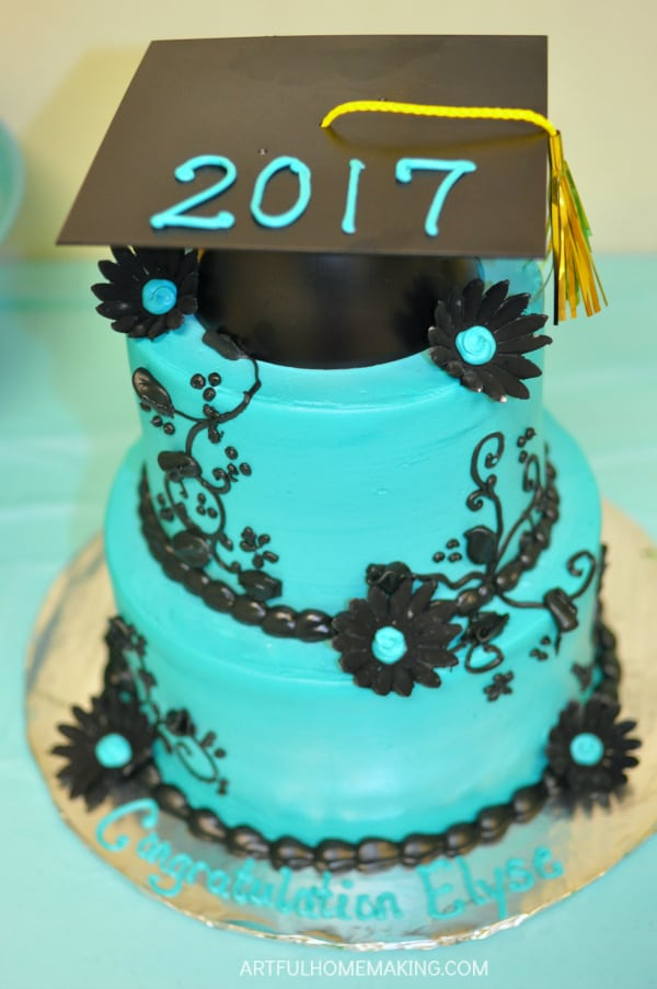 homeschool graduation party cake
