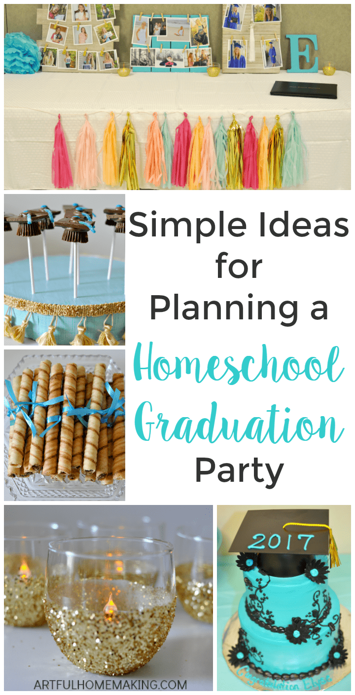 Ideas for planning a memorable homeschool graduation party!