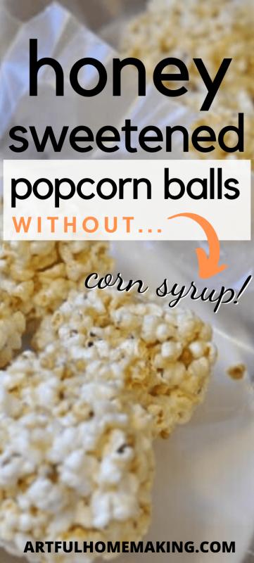 gluten-free homemade honey popcorn balls
