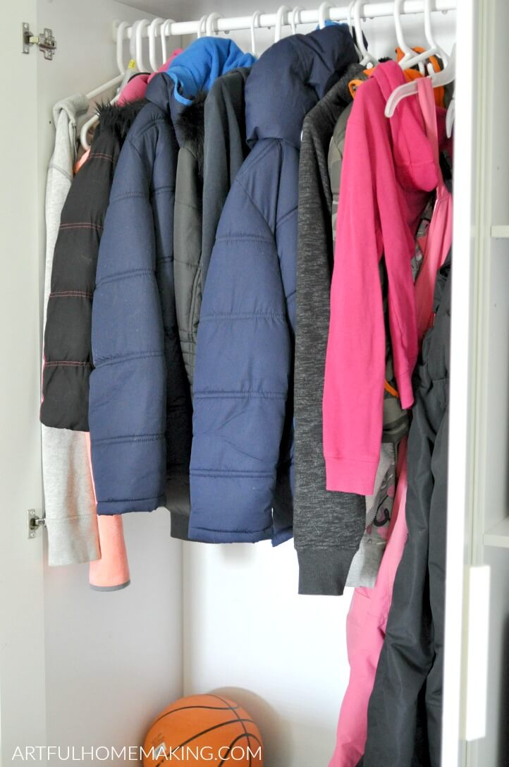 when you don't have a mudroom