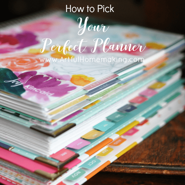 how to pick your perfect planner