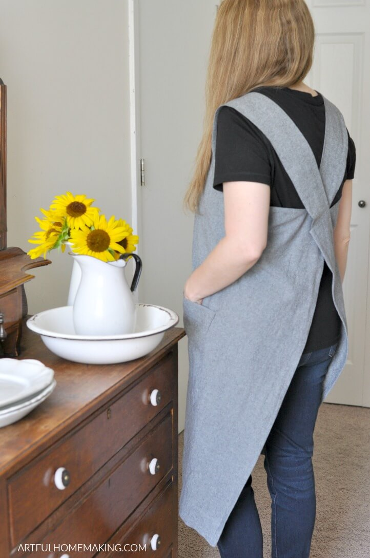 japanese pinafore apron pattern