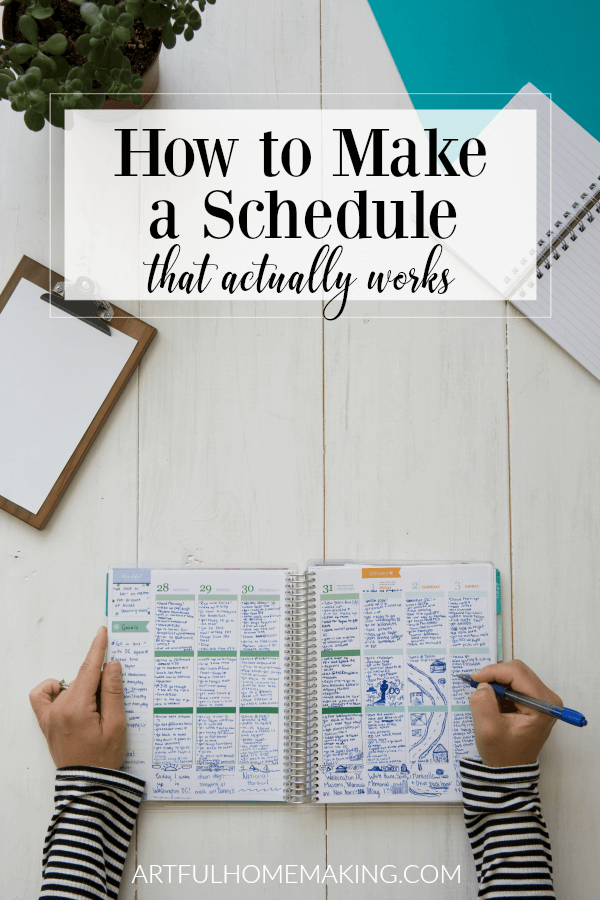 How to Make a Schedule