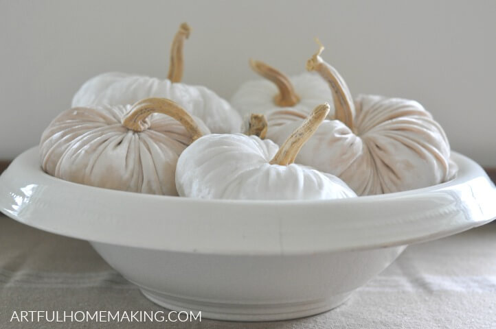 how to make velvet pumpkins