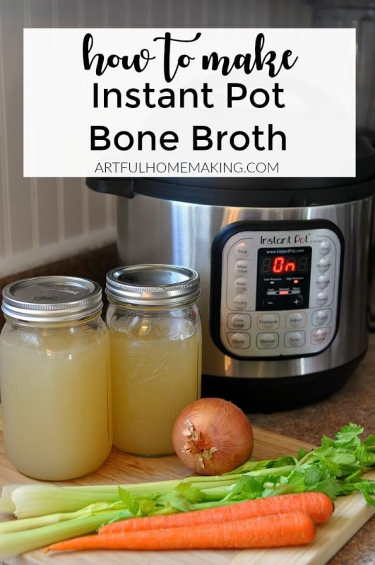 Instant Pot Bone Broth is simple to make and healthy!