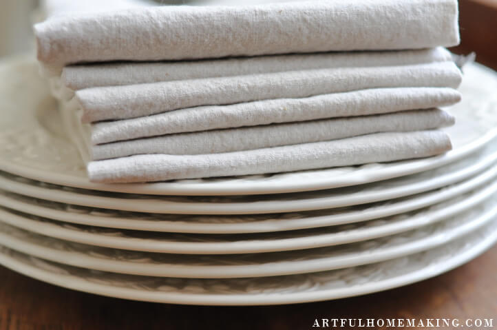 how to make linen cloth napkins