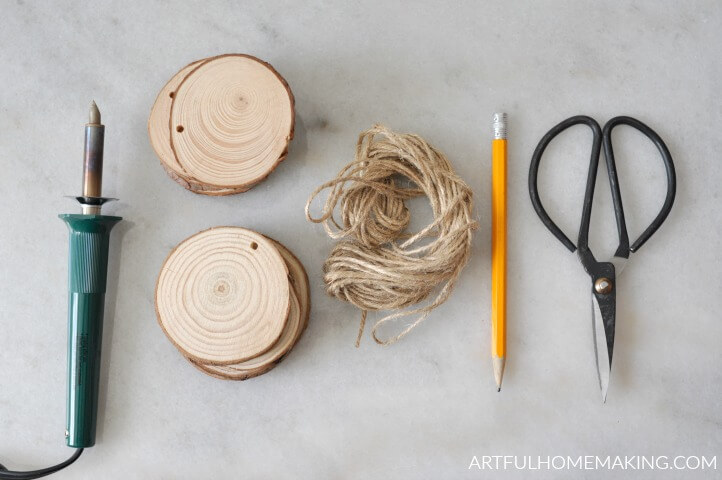 tools to make wood burned ornaments