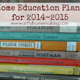 Home Education Plans for 2014-2015