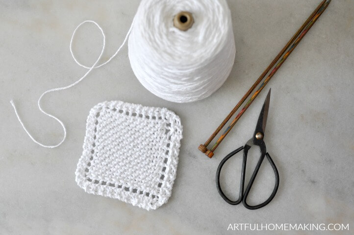 Easy Knitted Coasters Pattern