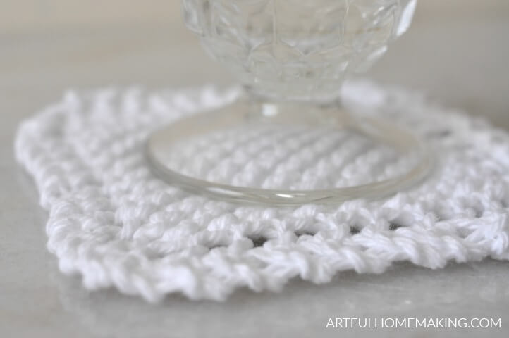 knitted coasters pattern