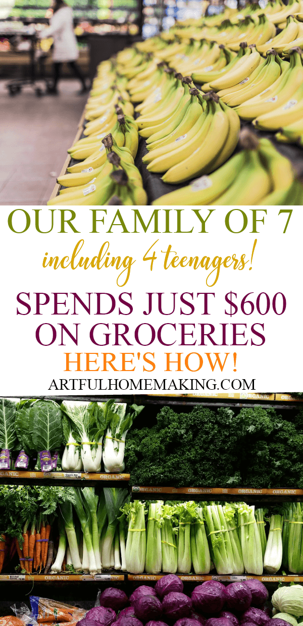 How we cut our grocery bill in half with a large family!