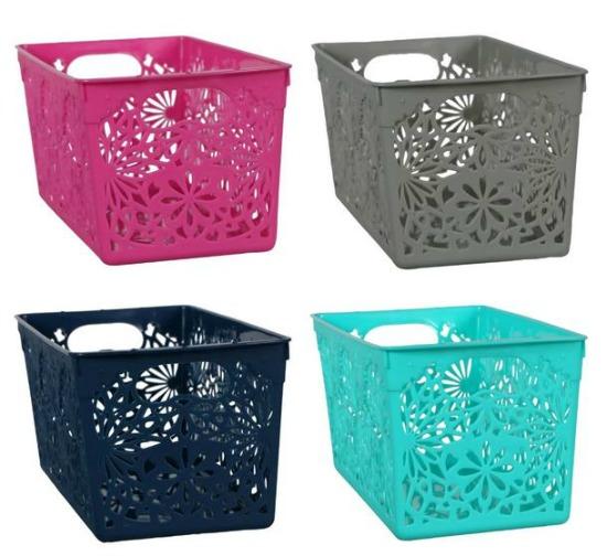 dollar store laser-cut storage bins
