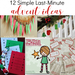12 Simple Last-Minute Advent Ideas
