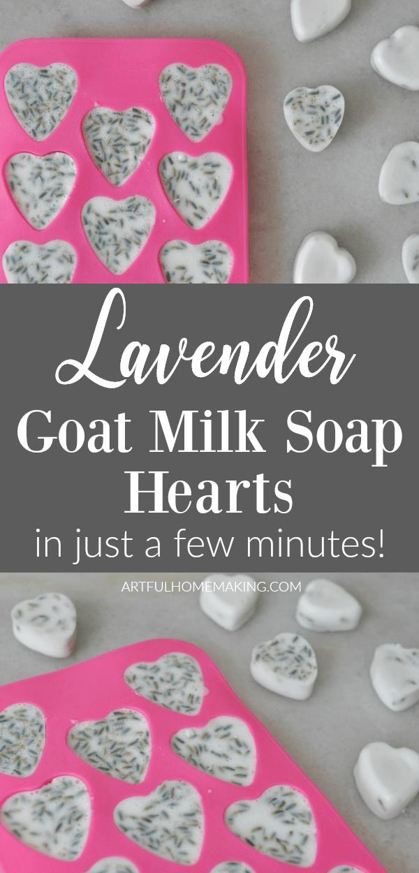 Lavender Goat Milk Soap Hearts
