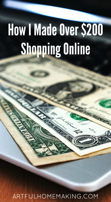 made $200 shopping online