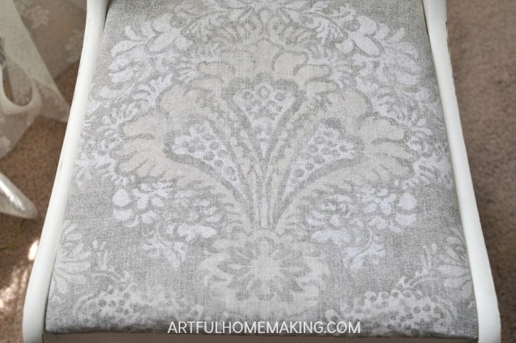 raw silk fusion mineral paint chair makeover