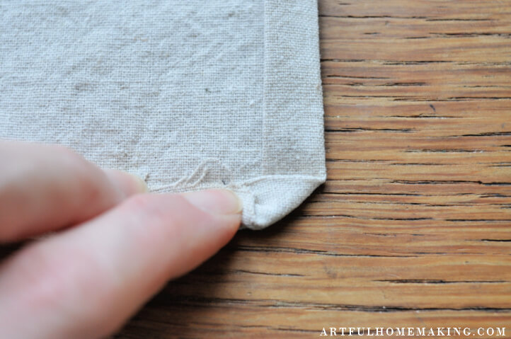 how to sew cloth napkins