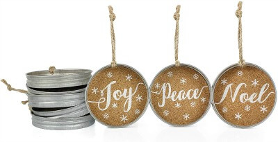 farmhouse mason jar lid christmas ornaments