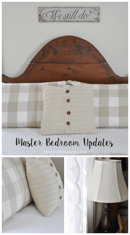 Simple changes to update the master bedroom!