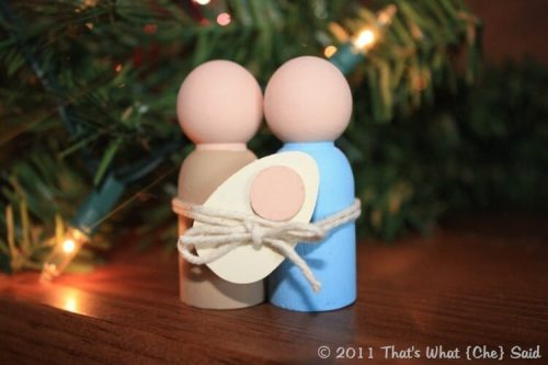 miniature nativity people craft