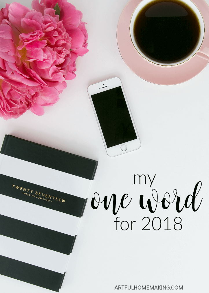 Plan for an intentional year by picking one word to focus on!
