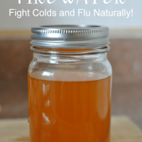 Learn how to make fire water, a simple to make natural cold and flu remedy!