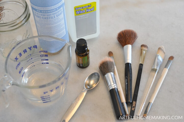 homemade natural makeup brush cleaner