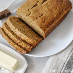 Healthy Banana Bread Sweetened with Honey
