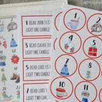 no-stress advent calendar printables