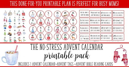 Take some of the stress out of Christmas with this printable Advent plan!