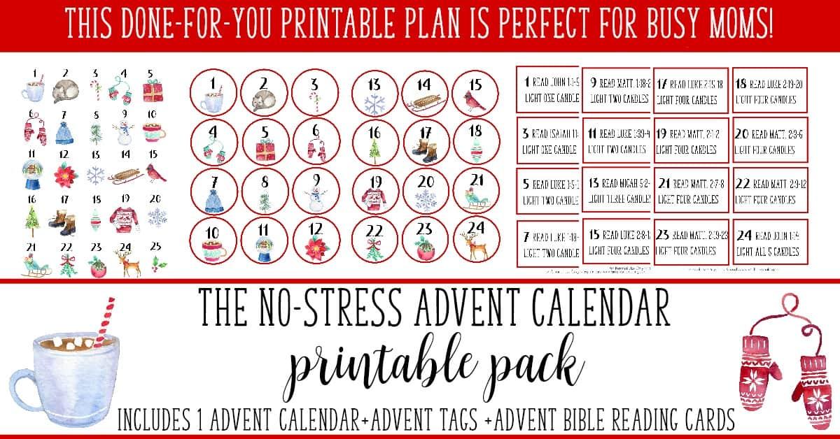 No-Stress Advent Plan: A Calendar for Busy Moms - Artful ...