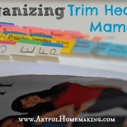 Organizing Trim Healthy Mama