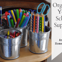 Organizing School Supplies with a DIY Tabletop Organizer