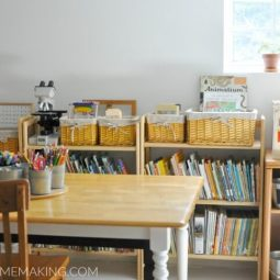 Homeschool Room Tour with Farmhouse Style Updates