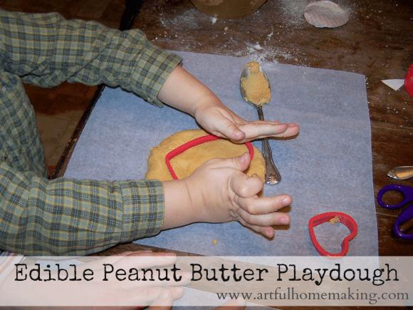 edible peanut butter playdough