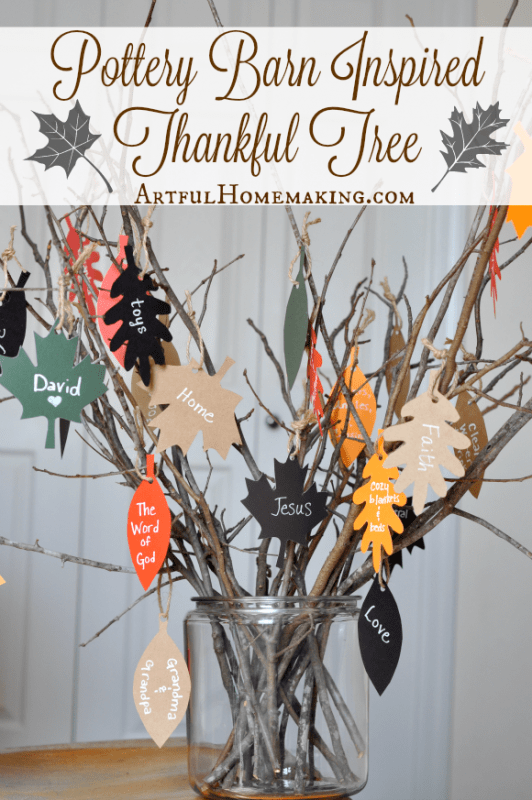 Count your blessings with this pottery barn inspired thankful tree!
