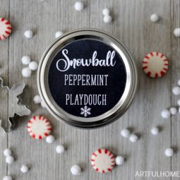 Snowball Peppermint Playdough + Free Printable Tags