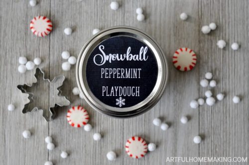 snowball peppermint playdough