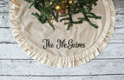 farmhouse style christmas tree skirt