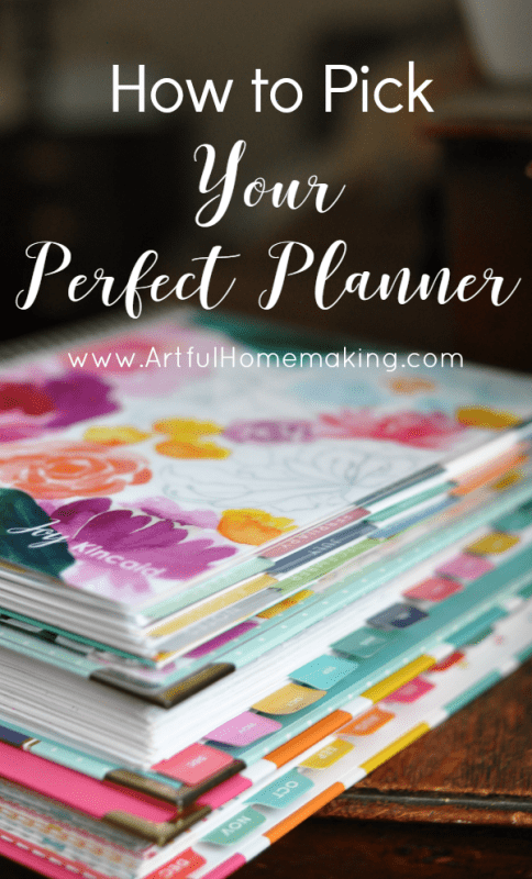 pick perfect planner
