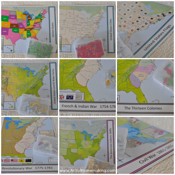Pin It Maps Us History Bundle Review Artful Homemaking - Us-pin-map