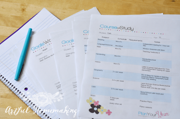 how to plan a successful homeschool year
