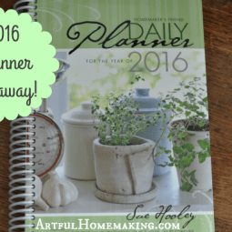 Homemaker's Friend Planner Giveaway!