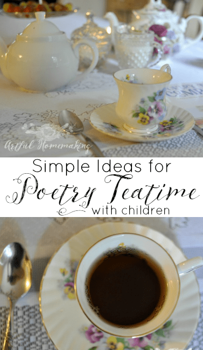 Poetry Teatime Ideas