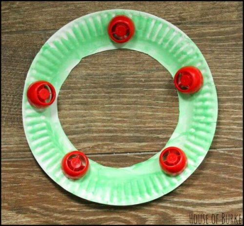 pouch cap christmas wreath craft